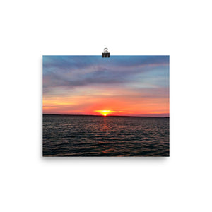 Peace and Sunset Photo paper poster
