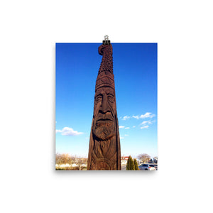 American Indian Photo paper poster