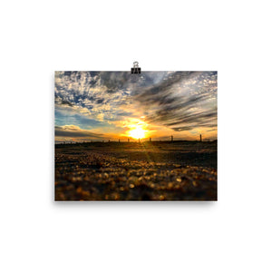 Sandy Sunset Photo paper poster