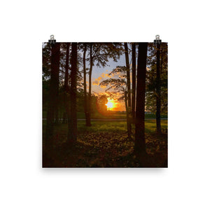 Golf Course Sunset Photo paper poster