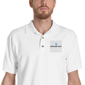 Explore Vida Embroidered Polo Shirt