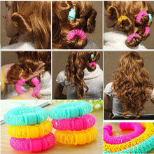 8Pcs New Magic Donuts Hair Styling Roller Hairdress Magic Bendy Curler Spiral Curls DIY Tool For Woman Hair Accessories