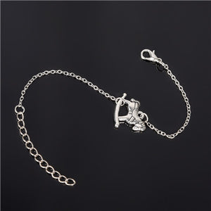 Simple Style Silver Plated Charm Bracelet Jewelry Gift Love Wedding Banquet Wholesale Top Quality