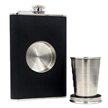 Hot EZLIFE Black Alcohol Wine Flask and Collapsible Shot Glass Stainless Steel Screw Cap Hip Pocket Wine Flagon Flask MS359