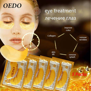 10pcs=5pack Anti-Aging Gold Crystal Collagen Eye Mask