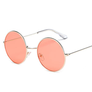 2017 New Women Men Round Sunglasses Steampunk Shades MultiColor Gradient Mirror Lens Goggles Designer Vintage Sun Glasses