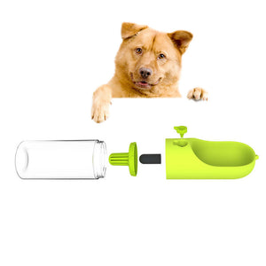 400ml Portable Pet Dog Water Bottle Filter Travel Cups Drinking Bowls Dog Cat Health Feeding Plastic Water Feeders PT1323