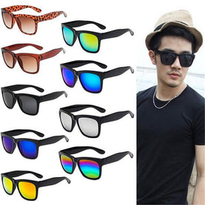 Fashion Sunglasses Men Sunglasses women Driving Mirrors Coating Points Black Frame Eyewear Male Sun Glasses