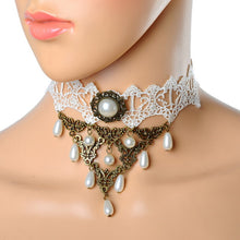 New Lace Tattoo Choker necklace Women Vintage Faux Semi-precious Stone Crystal Choker Necklace Gothic Punk Collar Jewelry