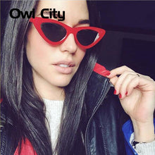 Owl City Vintage Women Sunglasses Cat eye Eyewear Brand Designer Retro Sunglass Female  Oculos de sol UV400 Sun glasses