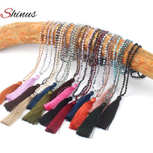 Shinus Trendy Women Statement Necklaces Bohemian Tassel Collier Maxi Pendants Necklace Handmade Jewelry Female Wedding Gift