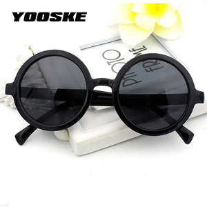 Yooske Vintage Round Sunglasses Women Classic Retro Coating Sun Glasses Female Male Sun Glasses