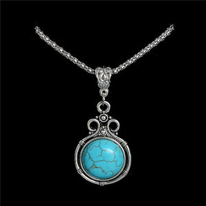 QCOOLJLY Fashion Stone Necklace Owl Pendant & Necklace Chain Vintage Jewelry for Women Pendant Long Chain Necklace