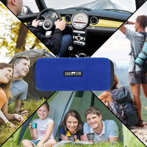 Chialstar Outdoor Speaker Waterproof IPX6 12W Bluetooth Speakers Fabric Sports with Microphone for Iphone Mobile Phone
