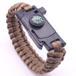 Tactical Survival Paracord Bracelet With Cut Tools Kit Multi-function Camping Field Survival Escape Tactics Wrist Strap