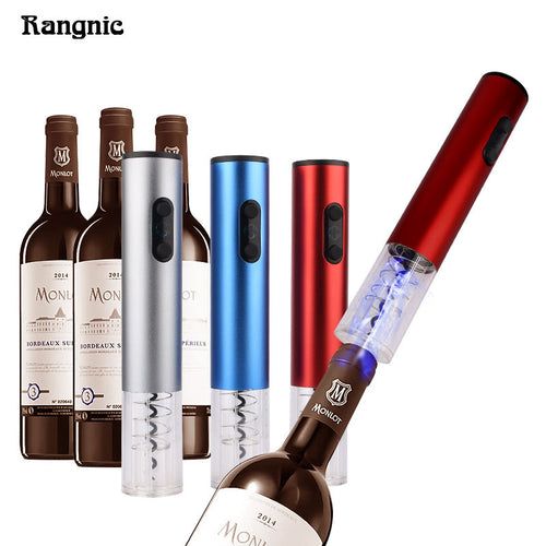 Wine Bottle Opener Pro Electric Corkscrew Screwpull Red Wine LED light With Foil Cutter Stainless Steel Vacuum Stopper