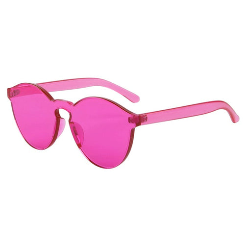 Fashion Women Flat Sunglasses Luxury Brand Designer Sun glasses Integrated Eyewear Candy Color UV400 de sol feminino