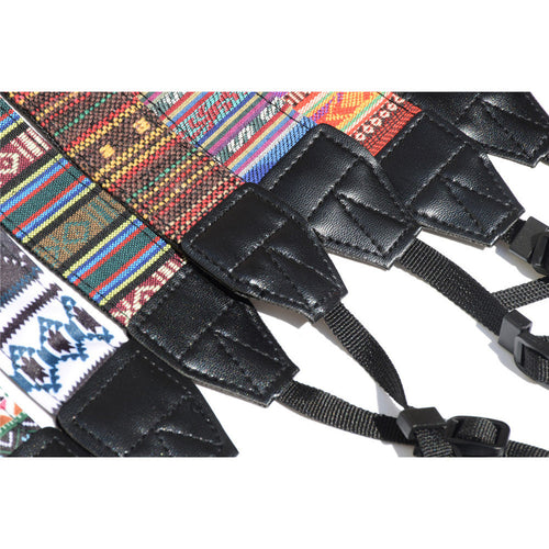 Ethnic Style Camera Strap Cotton Yard Pattern Neck Strap DSLR Shoulder Hand Strap