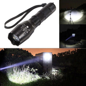 CREE LED Flashlight XM-L T6 10000LM 5Modes Torch Light Aluminum Alloy Waterproof Zoomable for 18650 Rechargeable Battery or AAA
