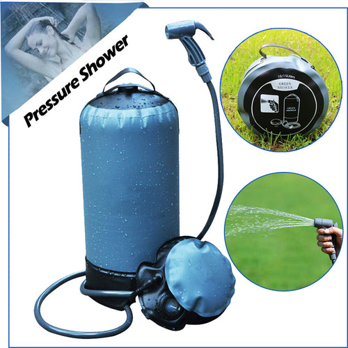 Pressure Shower portable camp shower Outdoor Inflatable Shower water bathing bag 11L folding solar camping outdoor  car washing