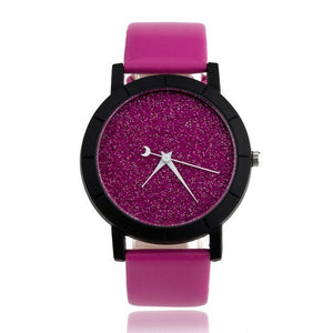 OTOKY Willby Fashion Starry Watch Women Men Sequins Moon Clock Hands Faux Leather Quartz Wrist Watch 161212 Drop Shipping