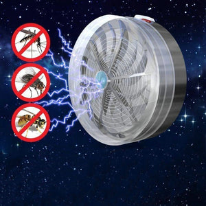 Solar Powered Buzz UV Lamp Light Fly Insect Bug Mosquito Kill Zapper Killer