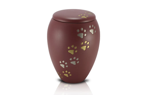 Standard Brass Vase Style Urn B18 - for pets up to 35kg all inclusive