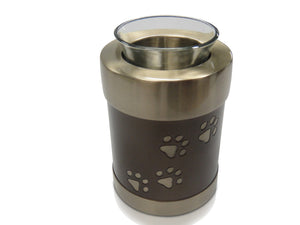 Bronze Tea Light Candle Holder & Urn H1 for pets up to 10kg all inclusive