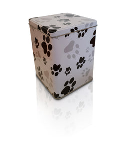 Paw Print Metal Scatter Tins P1(L) Large - for pets up to 50kg all inclusive