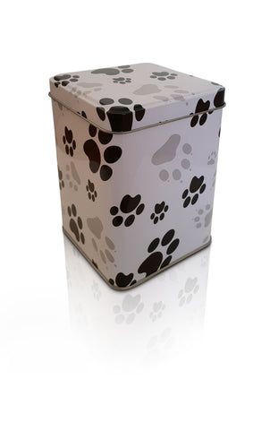 Paw Print Metal Scatter Tins P1(M) - for pets up to 10kg all inclusive