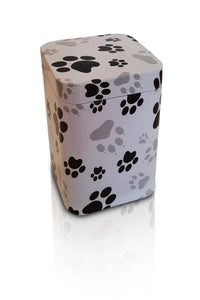 Paw Print Metal Scatter Tins P1(S) - for pets up to 2kg all inclusive