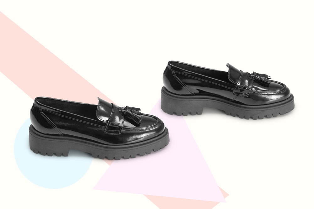 Load image into Gallery viewer, Mocassino Special Edition Pelle Vernice Nera - ELEMENTARYLUX