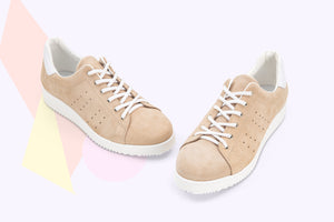 Load image into Gallery viewer, Sneaker Pegaso Pelle Scamosciata Beige - ELEMENTARYLUX