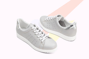Load image into Gallery viewer, Sneaker Pegaso Pelle Light Grey - ELEMENTARYLUX