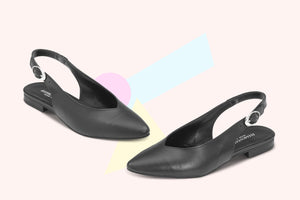 Load image into Gallery viewer, Slingback Pelle Nera - ELEMENTARYLUX