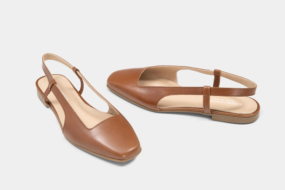 Load image into Gallery viewer, Slingback Pelle Tan - ELEMENTARYLUX