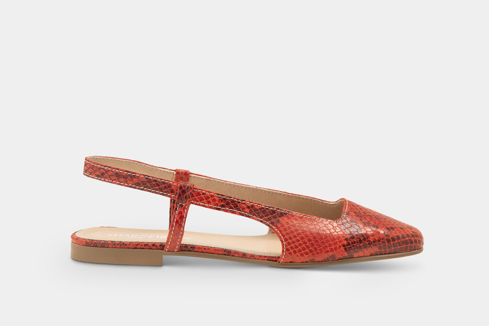 Load image into Gallery viewer, slingback in pelle