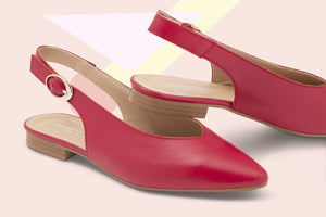 Load image into Gallery viewer, Slingback Pelle Rossa
