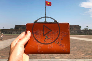 Check out our new travel-inspired video of the stitch passport cover!