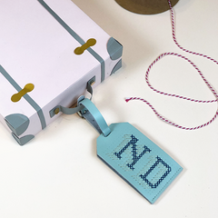 Mint Stitch Luggage Tag @ND
