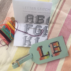 Mint Stitch Luggage Tag @emroyston