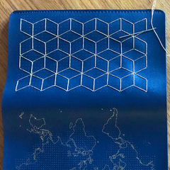 Navy Wallet Chasing Threads pattern