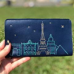 Navy Wallet stitched with Paris skyline.png