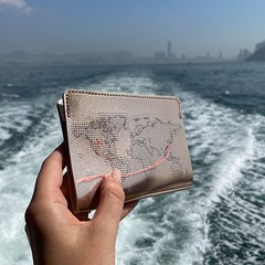Rose Gold stitch passport cover boat