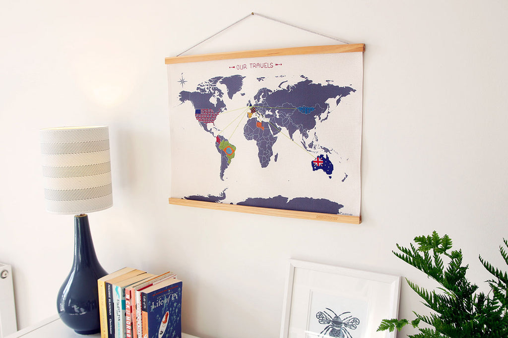 Cross Stitch Map sew your travels in thread