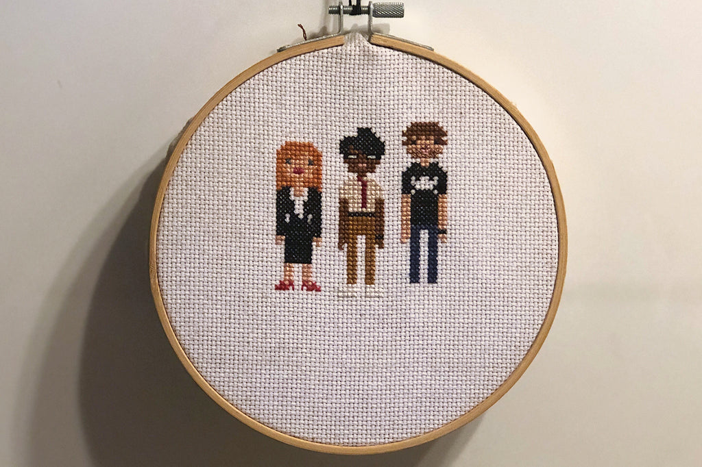 Stitch IT crowd DIY cross stitch people stay home ideas craft