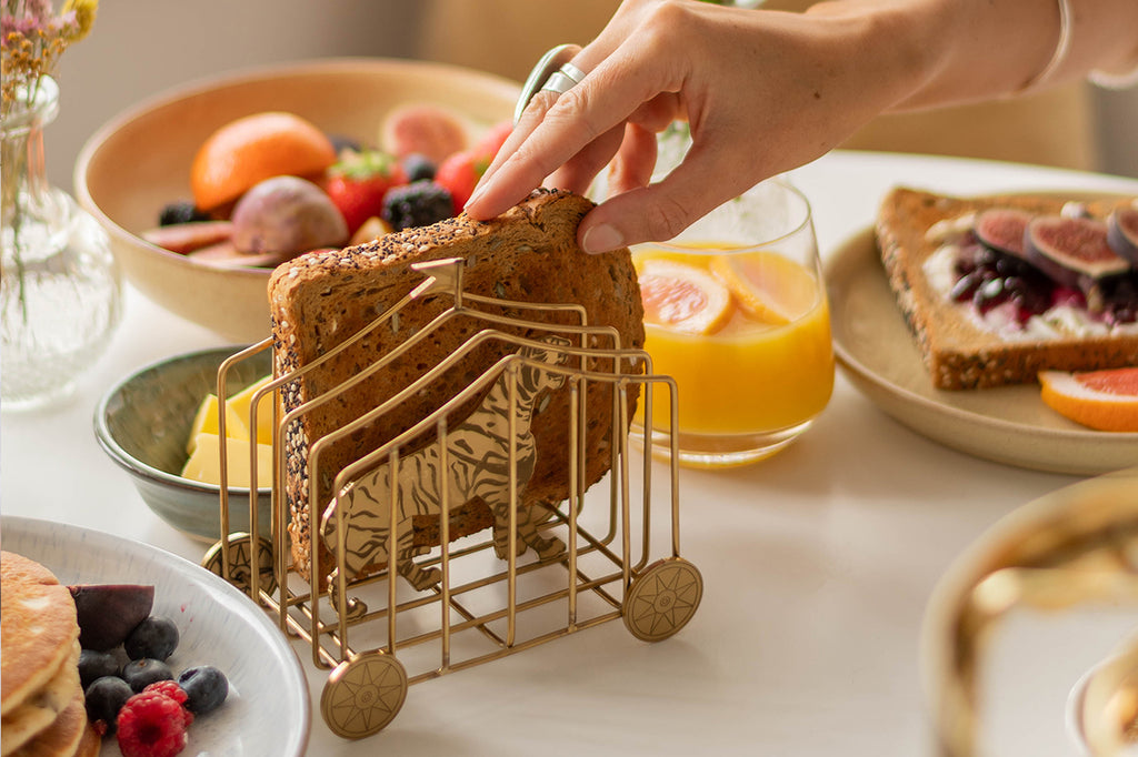 Tiger Toast rack at the breakfast table for valentines day