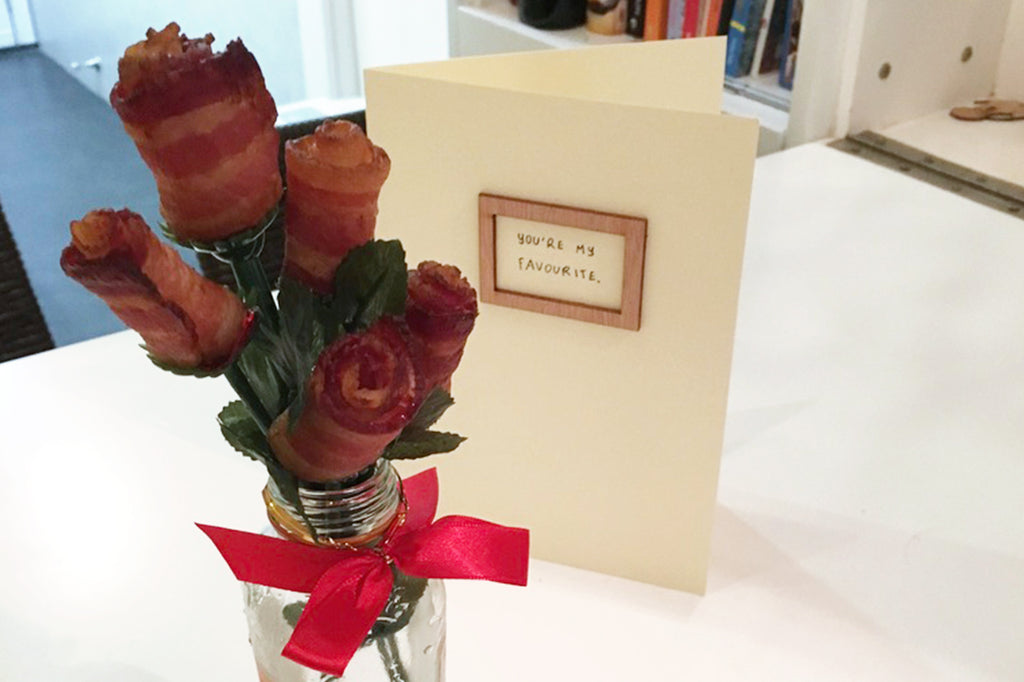 bacon roses creative valentine gift
