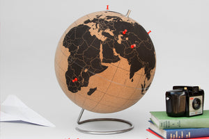 Pin Your Travels Cork Globe