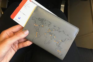 Show where you've travelled grey passport cover